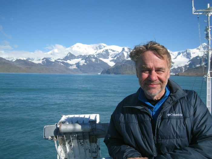Gary on board Polar Pioneer during his voyage with Aurora Expeditions